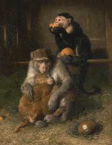 Edwin Henry Landseer - doctor's visit to poor relations at the zoological gardens