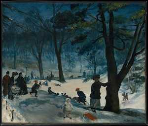 William James Glackens - Central Park, Winter