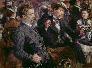 Adolph Menzel - At the beer garden