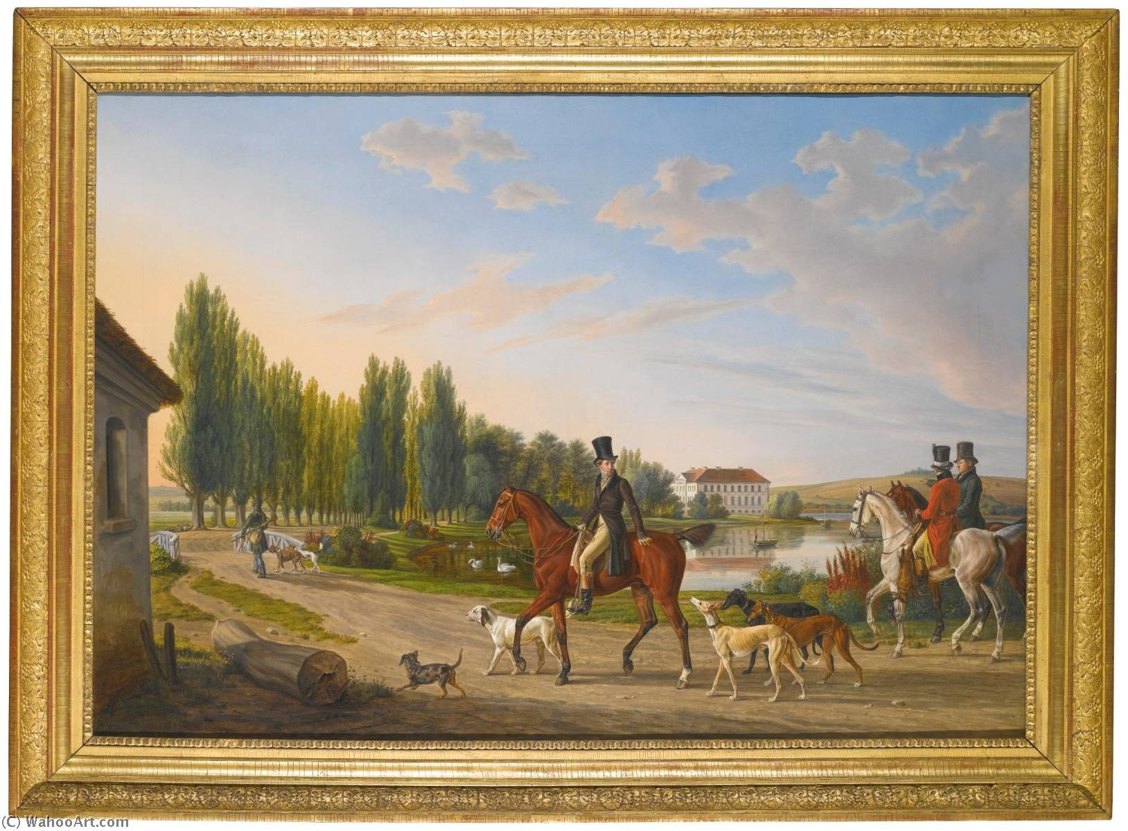 Return from the hunt, 1828 by Adam Albrecht (1786-1862, Germany) | Art Reproduction | WahooArt.com