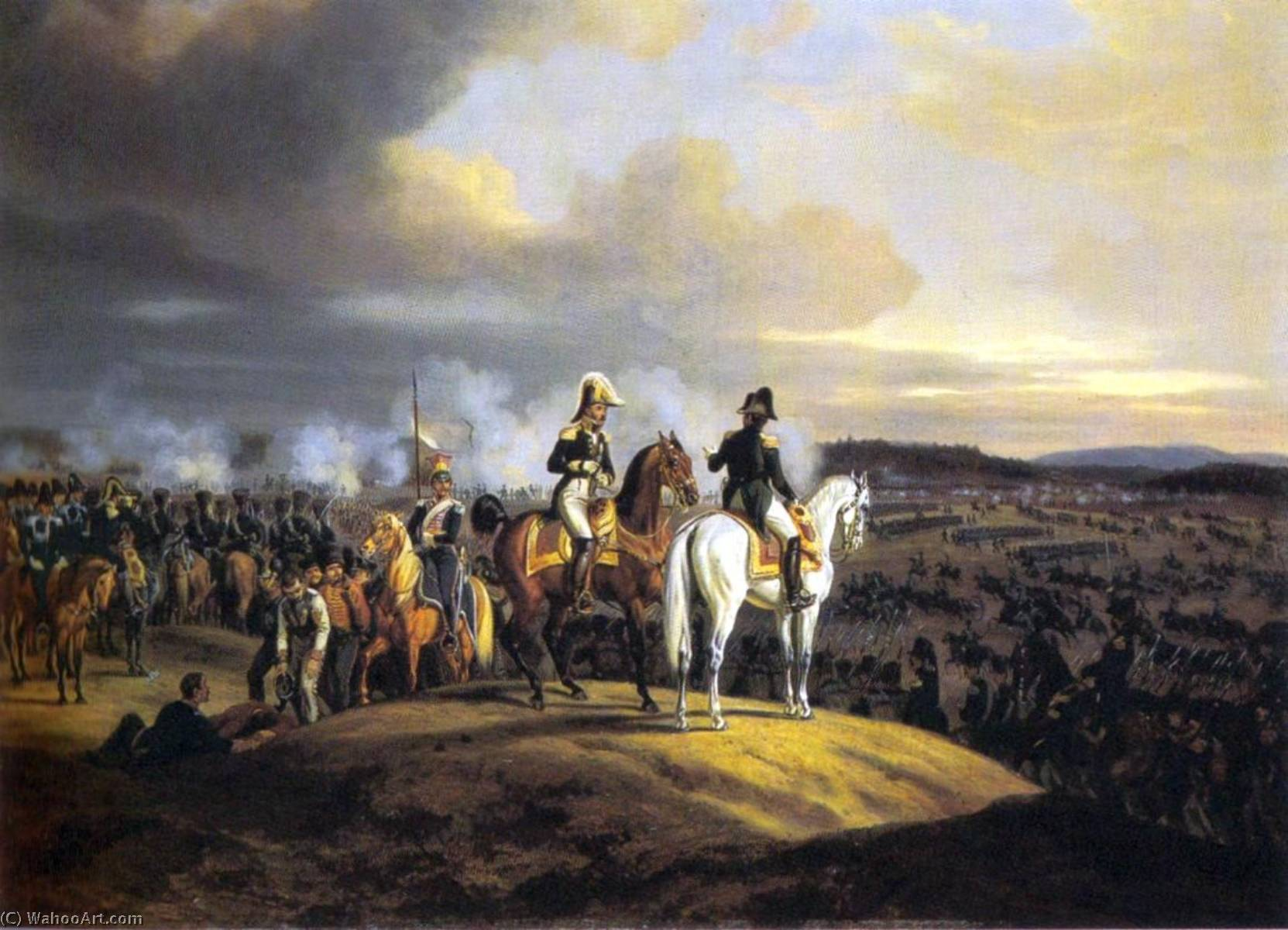 Eugène de Beauharnais and Napoleon in Russia, 1835 by Adam Albrecht (1786-1862, Germany) | Museum Quality Reproductions | WahooArt.com