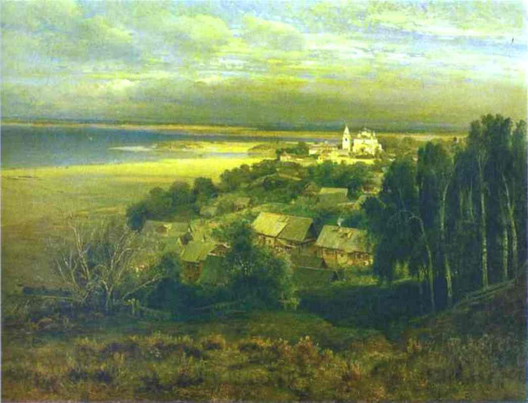 The Monastery of the Caves Near Nizhny Novgorod, Oil On Canvas by Alexei Kondratyevich Savrasov (1830-1897, Russia)