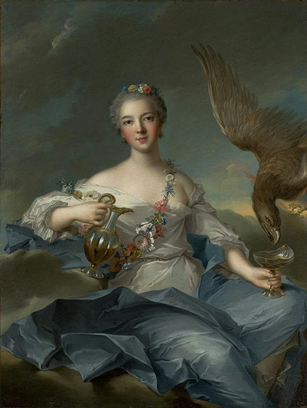 Duchesse de Chartres as Hebe, 1744 by Marc Nattier (1685-1766, France) | Oil Painting | WahooArt.com