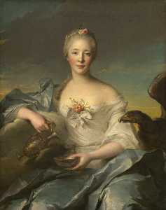 Marc Nattier - Madame Le Fèvre de Caumartin as Hebe
