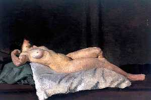 Dora De Houghton Carrington - Female Figure Lying on Her Back