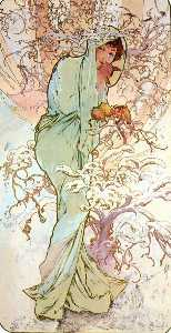 Alfons Maria Mucha - The Four Seasons Winter