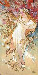 Alfons Maria Mucha - The Four Seasons Spring