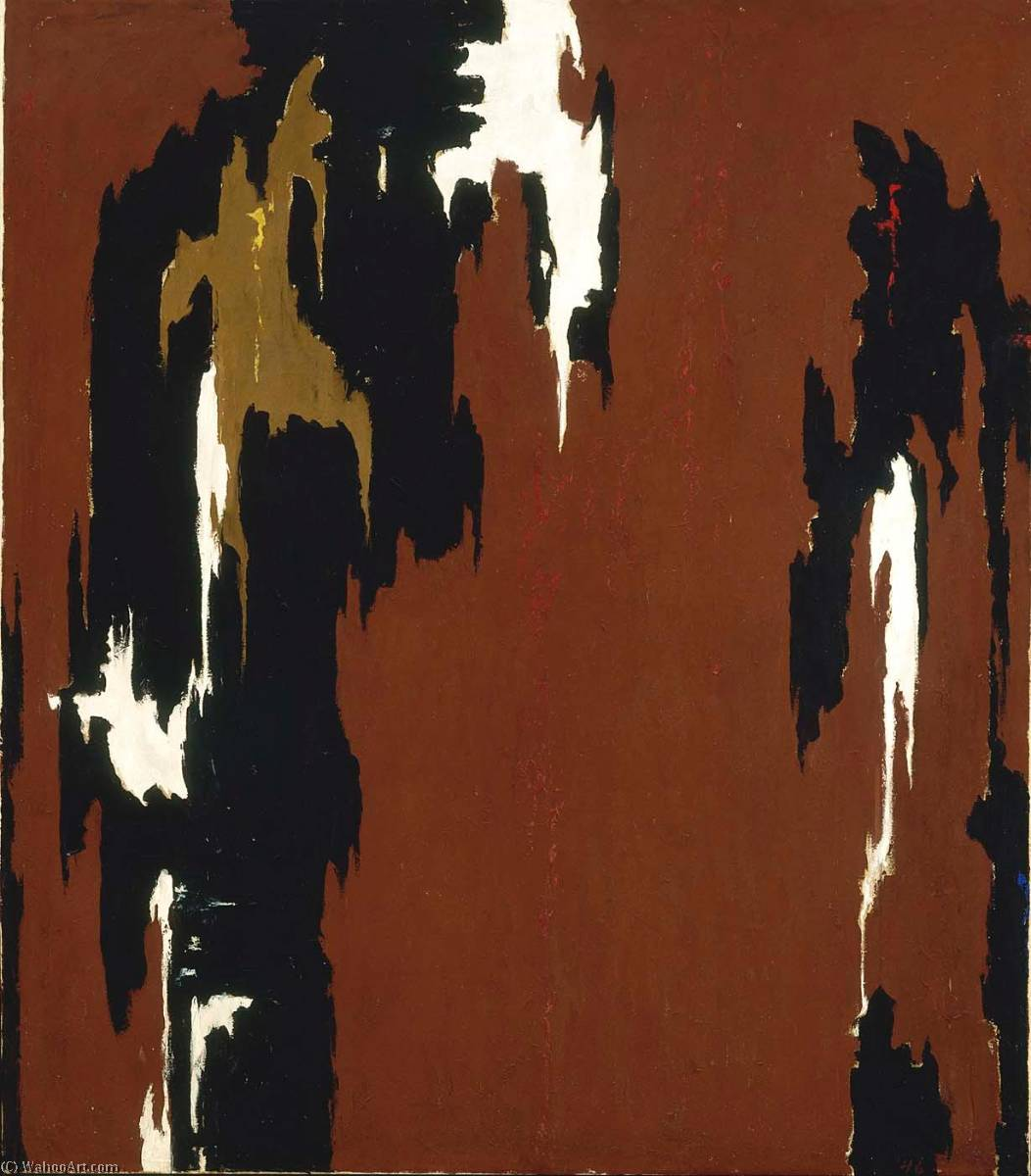 1946 H (Indian Red and Black), Oil On Canvas by Clyfford Still (1904-1980, United States)