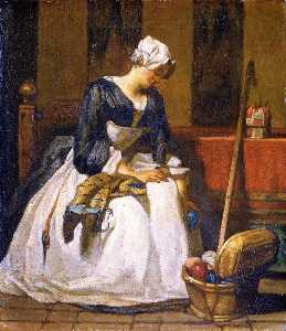 Jean-Baptiste Simeon Chardin - The Embroiderer (first version)