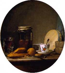 Jean-Baptiste Simeon Chardin - The Jar of Apricots