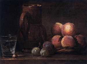 Jean-Baptiste Simeon Chardin - Fruit, Jug, and a Glass