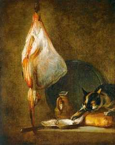 Jean-Baptiste Simeon Chardin - Still Life with Cat and Rayfish
