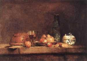 Jean-Baptiste Simeon Chardin - Still Life with Jar of Olives