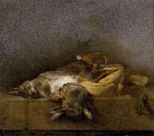 Jean-Baptiste Simeon Chardin - Still Life with Two Rabbits