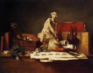 Jean-Baptiste Simeon Chardin - The Attributes of Art