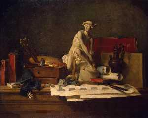 Jean-Baptiste Simeon Chardin - Still Life with Attributes of the Arts