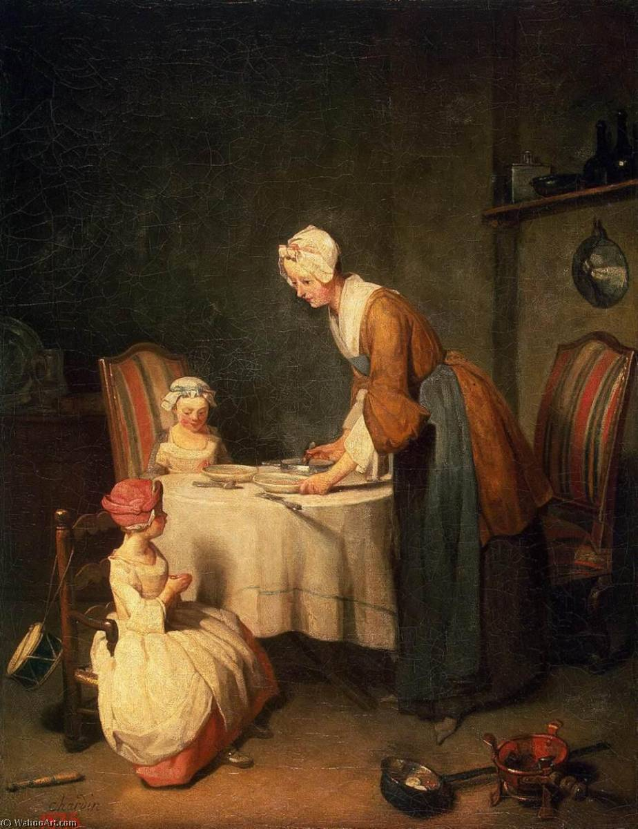 The Prayer before Meal, 1744 by Jean-Baptiste Simeon Chardin (1699-1779, France) | Art Reproductions Jean-Baptiste Simeon Chardin | WahooArt.com