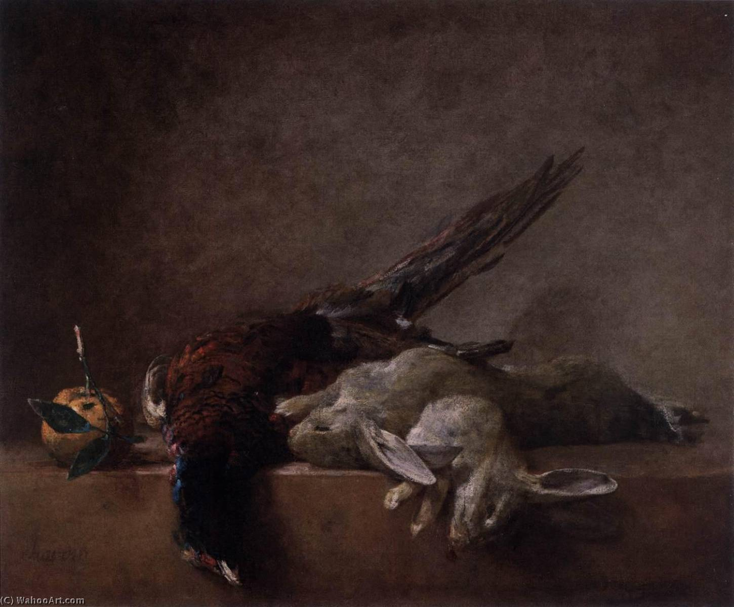 Still Life with Game, 1750 by Jean-Baptiste Simeon Chardin (1699-1779, France) | Reproductions Jean-Baptiste Simeon Chardin | WahooArt.com