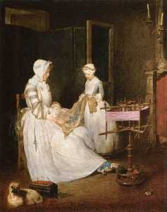 Jean-Baptiste Simeon Chardin - The Hard working Mother