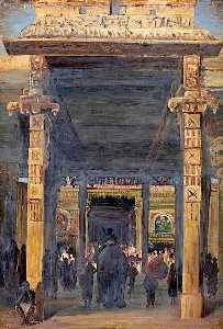 Marianne North - Gate Leading into the Temple, Madura