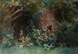 Konstantin Yegorovich Makovsky - Garden in Bloom