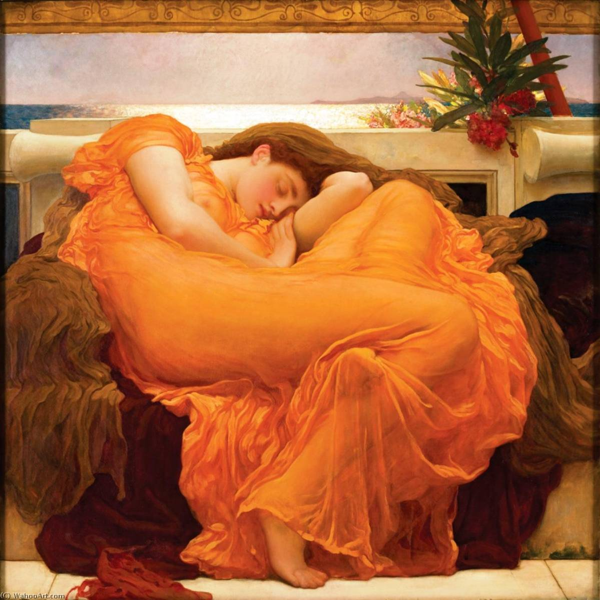 Flaming June, Oil On Canvas by Lord Frederic Leighton (1830-1896, United Kingdom)