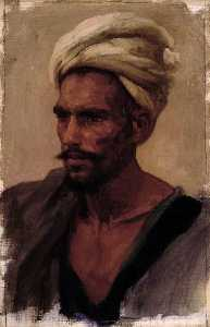Lord Frederic Leighton - Head of an Arab