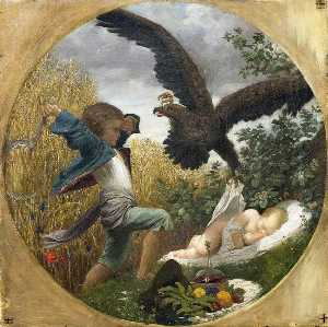 Lord Frederic Leighton - A Boy Defending a Baby from an Eagle