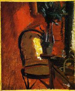 Anna Kirstine Ancher - Interior with Chair and Plant