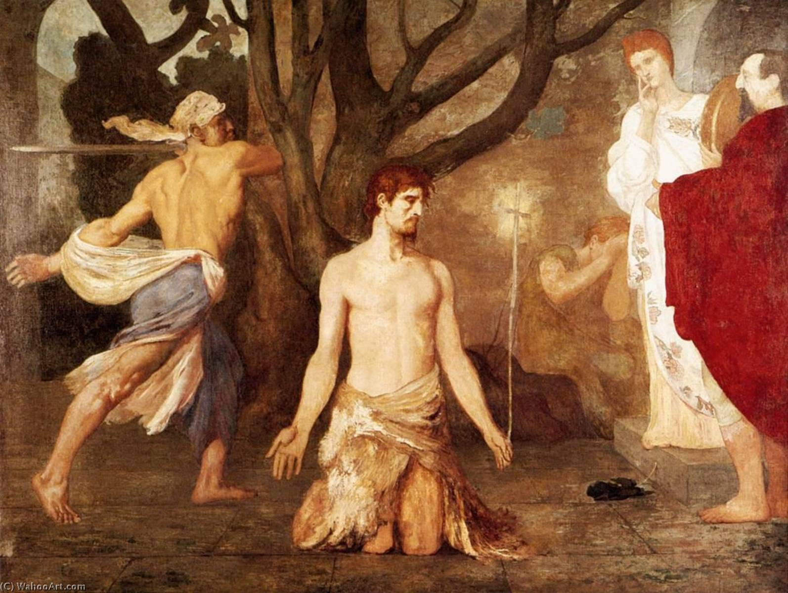 The Beheading of St John the Baptist, 1869 by Pierre Puvis De Chavannes (1824-1898, France) | Paintings Reproductions Pierre Puvis De Chavannes | WahooArt.com