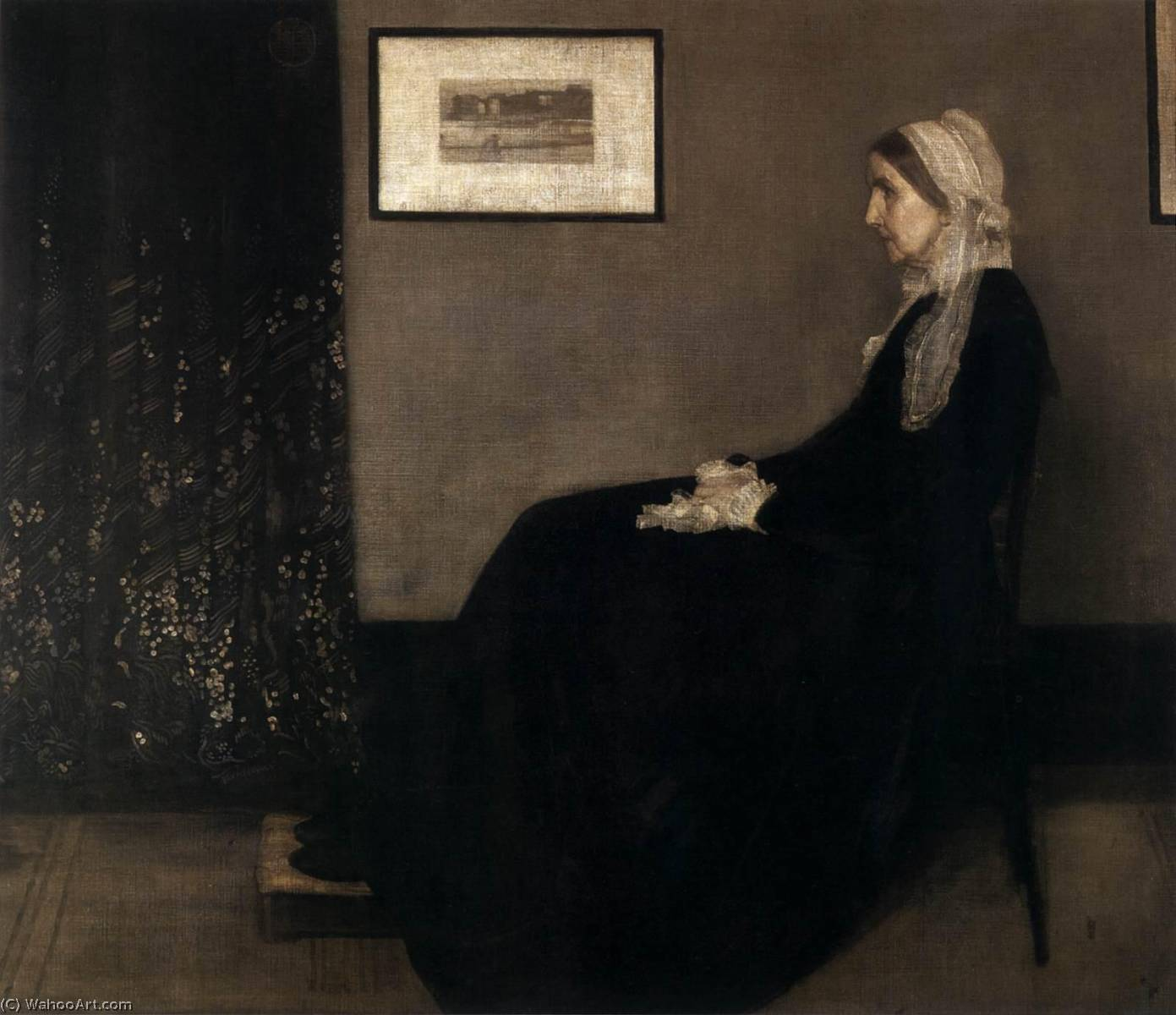 The Artist's Mother, Oil On Canvas by James Abbott Mcneill Whistler (1834-1903, United States)