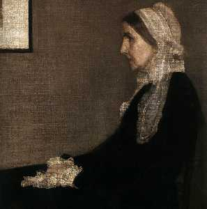 James Abbott Mcneill Whistler - The Artist's Mother (detail)