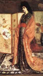 James Abbott Mcneill Whistler - Rose and Silver The Princess from the Land of Porcelain