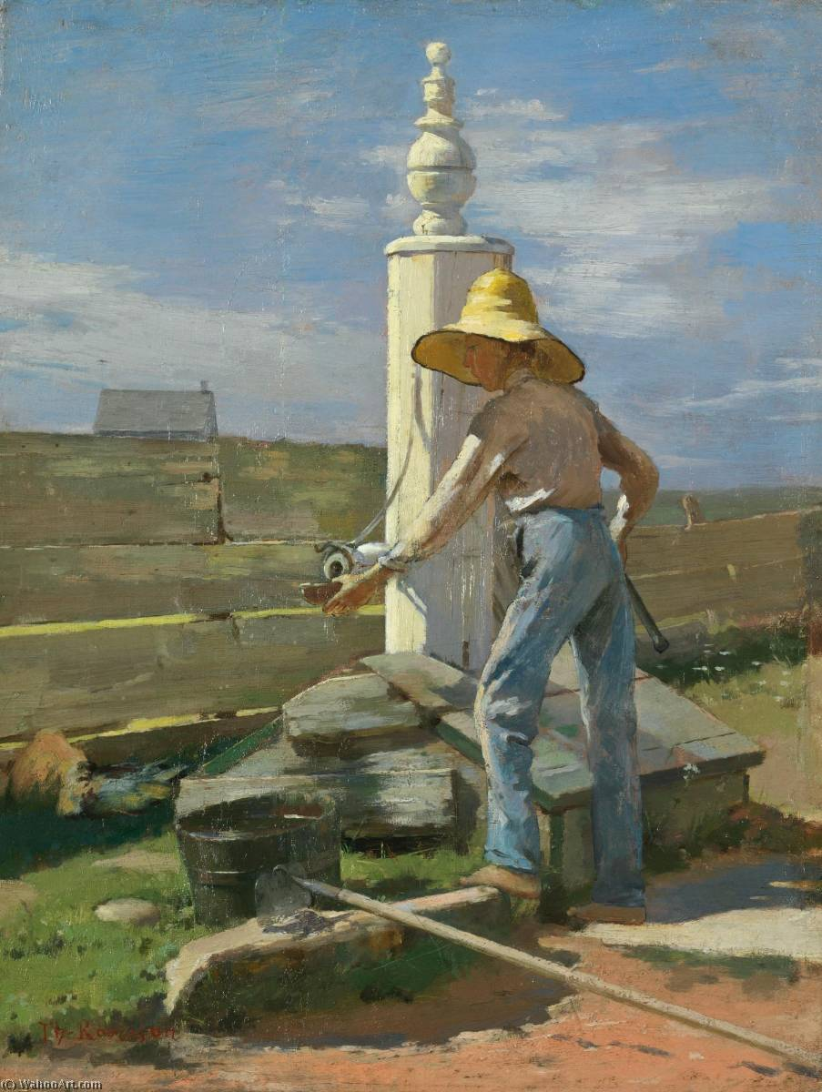 Nantucket Pump by Theodore Robinson (1852-1896, United States) | Famous Paintings Reproductions | WahooArt.com