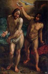Hendrik Goltzius - The Baptism of Christ