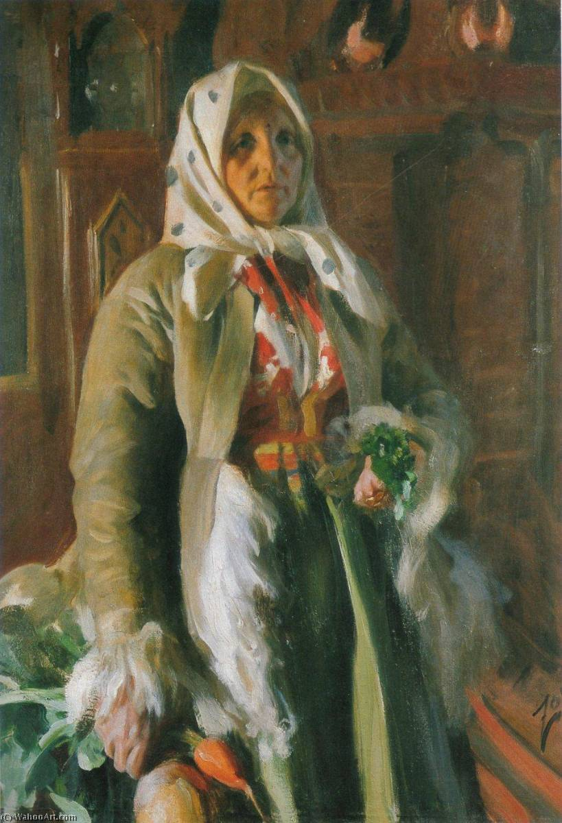 Mona, Oil On Canvas by Anders Leonard Zorn (1860-1920, Sweden)
