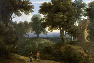 Jacques D- Arthois - Wooded Landscape
