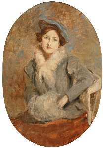 Jacques-Emile Blanche - DÉsirÉe Manfred with a Muff