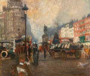 Jacques-Emile Blanche - Knightsbridge seen from Sloane Street, December 1913