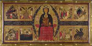 Margarito D'arezzo - Madonna and Child Enthroned