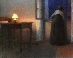 Jakub Schikaneder - Evening Interior