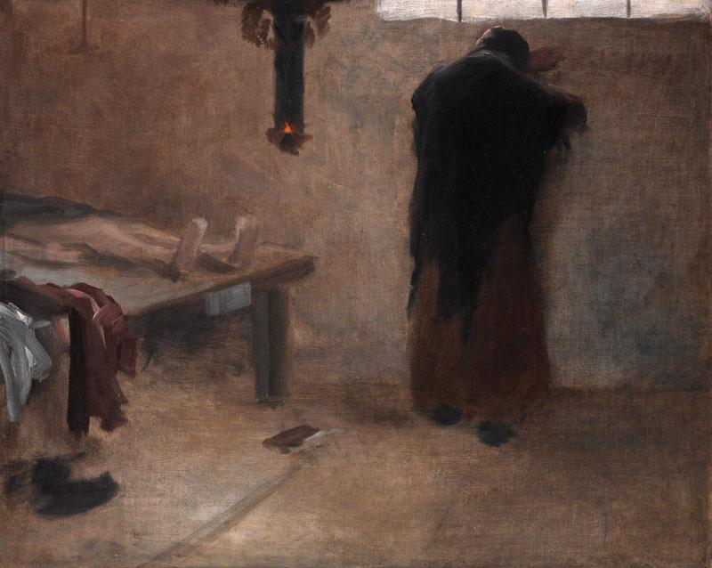 In the Morgue, 1885 by Jakub Schikaneder | WahooArt.com