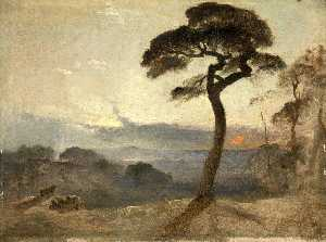 James Francis Danby - Hampstead Heath, Sunset