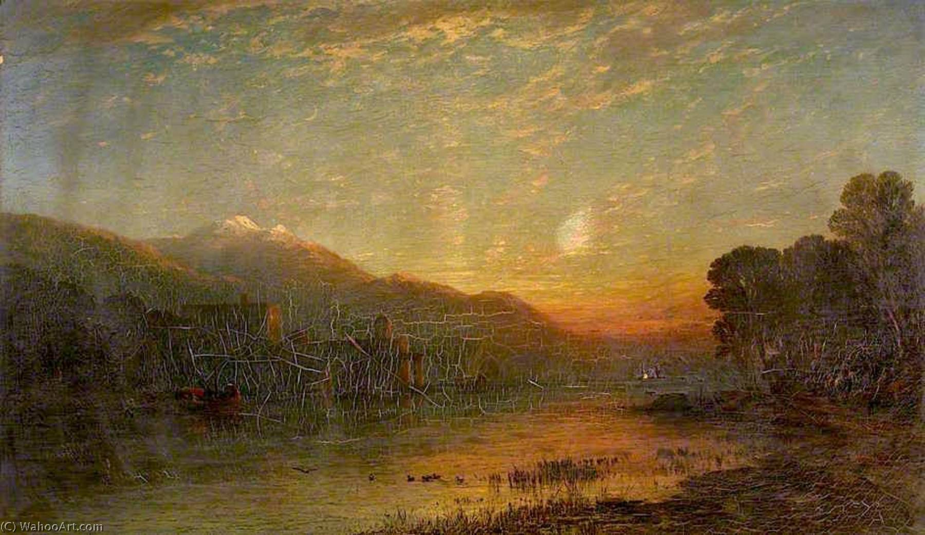 Landscape, Oil On Canvas by James Francis Danby (1793-1861, Ireland)