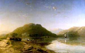 James Francis Danby - Loch Fyne with Inverary Castle from the South West