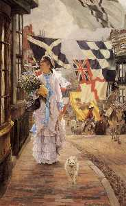 James Jaques Joseph Tissot - A Fete Day at Brighton