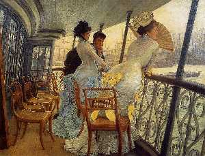 James Jaques Joseph Tissot - The Gallery of the H.M.S. Calcutta
