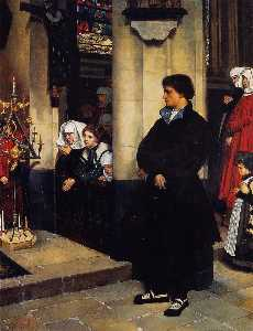 James Jaques Joseph Tissot - During the Service (also known as Martin Luther's Doubts)
