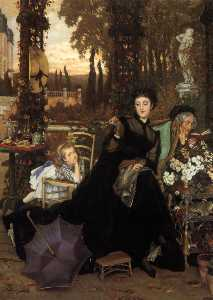 James Jaques Joseph Tissot - English A Widow