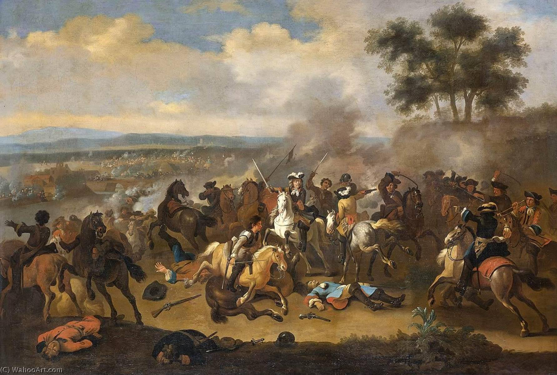 Battle of the Boyne by Jan Van Huchtenburg (1647-1733) | Oil Painting | WahooArt.com
